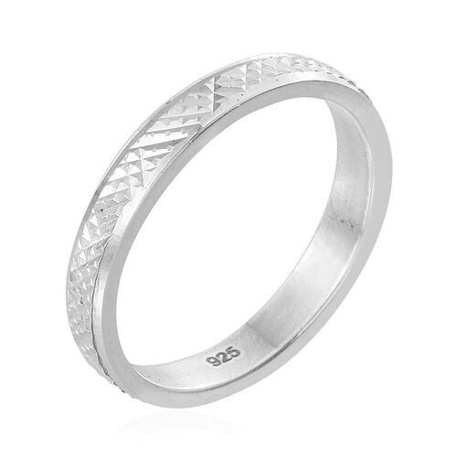 Tribal Collection of India Sterling Silver Band Ring, Silver wt 3.16 Gms.