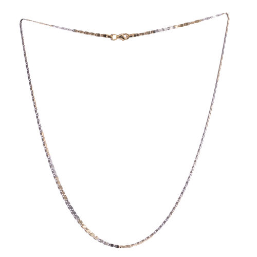 Vicenza Collection Platinum and Yellow Gold Overlay Sterling Silver Valentino Necklace (Size 18)