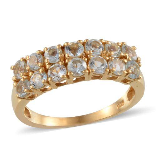 Espirito Santo Aquamarine (Rnd) Ring in 14K Gold Overlay Sterling Silver 1.500 Ct.