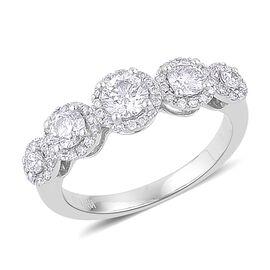 ILIANA 18K White Gold IGI Certified 1 Carat Diamond (SI/G-H) Ring