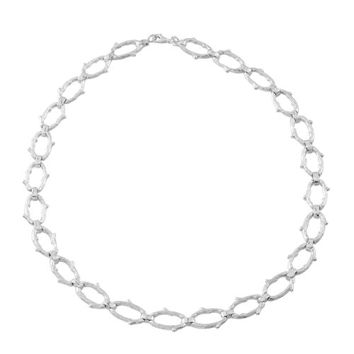 Vicenza Collection Sterling Silver Necklace (Size 20), Silver wt. 57.50 Gms.