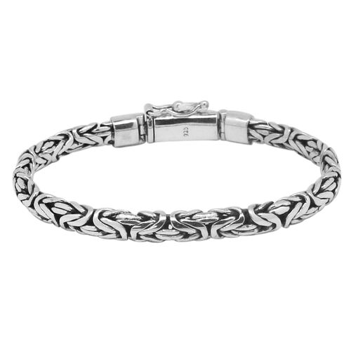 Royal Bali Collection Sterling Silver Borobudur Bracelet (Size 7.5), Silver wt. 30.71 Gms.