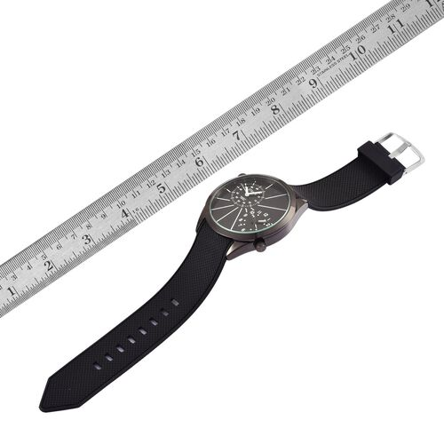 STRADA Dual Time Watch - Black