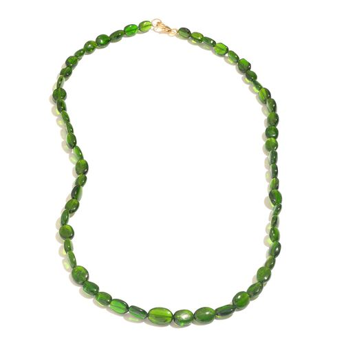 ILIANA 18K Y Gold Russian Diopside (Ovl) Necklace (Size 18) 76.000 Ct.
