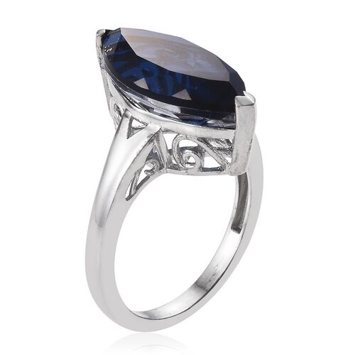 Ceylon Colour Quartz (Mrq) Solitaire Ring in Platinum Overlay Sterling Silver 9.000 Ct.