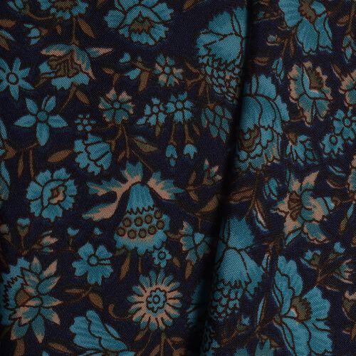 Blue, Aqua and Multi Colour Floral Printed High Waist Fold Over V Cut Palazzo (Free Size)