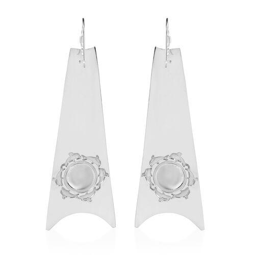 Sterling Silver Hook Earrings, Silver wt 6.57 Gms.