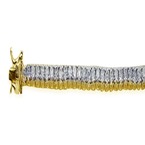ELANZA AAA Simulated Diamond (Rnd) Bracelet (Size 8) in 14K Gold Overlay Sterling Silver