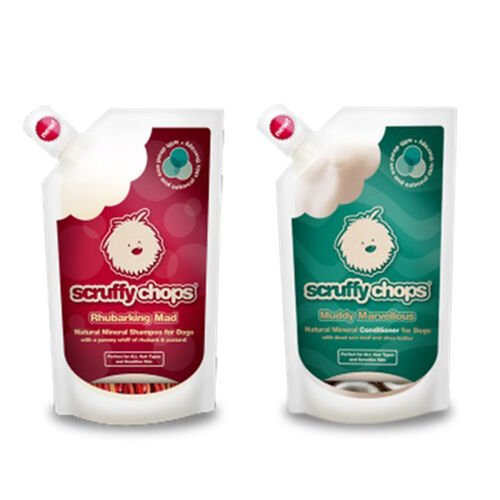(Option 2) Scruffy Chops Mineral Range- Scruffy Chops Rhubarking Mad Shampoo 250ml Scruffy Chops Muddy Marvellous Conditioner 250ml- Estimated delivery within 5-7 working days