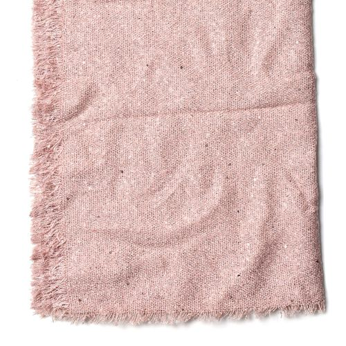 Light Pink Colour Scarf with Sequins (Size 200x70 Cm)