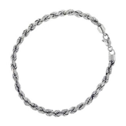 PERSONAL SHOPPER 9K W Gold Double Curb Rope Bracelet (Size 7.5), Glod wt 4.00 Gms.