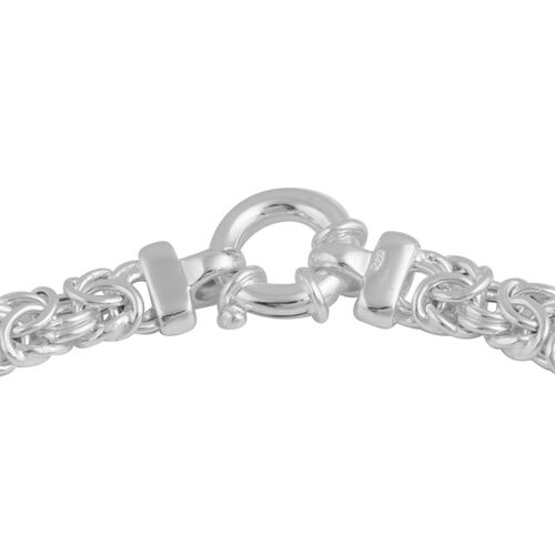 One Time Deal - Designer Inspired Vicenza Collection Rhodium Plated Sterling Silver Chain (Size 18), Silver wt 33.26 Gms.