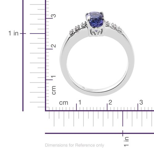 ILIANA 18K White Gold 1.95 Ct AAA Tanzanite Ring with Diamond (SI/G-H)