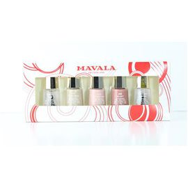 Mavala 5 Nail Polish set, 3 Neutral Colours-Base Coat and Top Coat