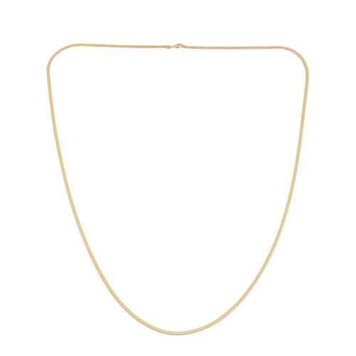 JCK Vegas Collection 14K Gold Overlay Sterling Silver Chain (Size 24), Silver wt. 3.50 Gms.