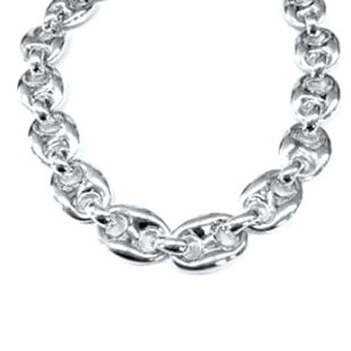 Close Out Deal Rhodium Plated Sterling Silver Mariner Link Chain (Size 17), Silver wt 57.50 Gms.