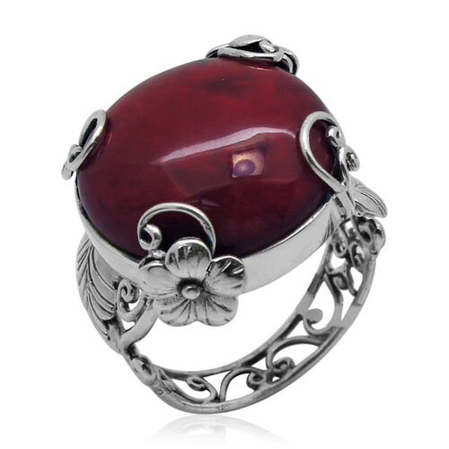 Royal Bali Collection Coral (Rnd) Ring in Sterling Silver 13.000 Ct.