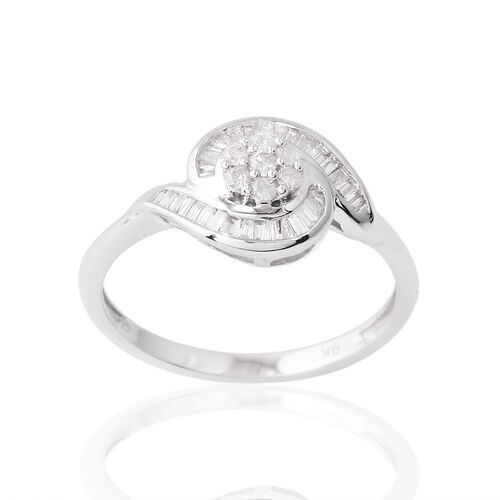 9K W Gold SGL Certified Diamond (Rnd) (I3/ G-H) Ring 0.200 Ct.