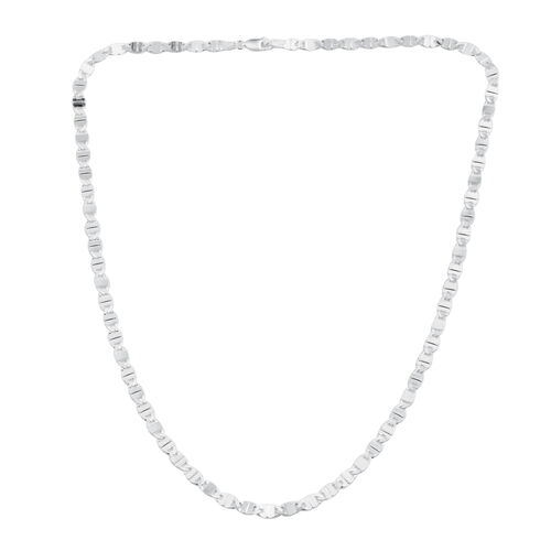 Sterling Silver Valentino Necklace (Size 20), Silver wt. 7.00 Gms.