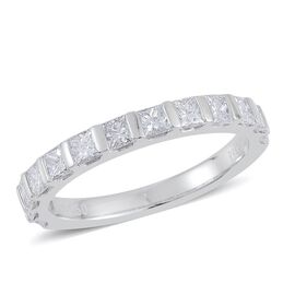 RHAPSODY 950 Platinum 1 Carat IGI Certified Diamond (VS/E-F)  Half Eternity Ring