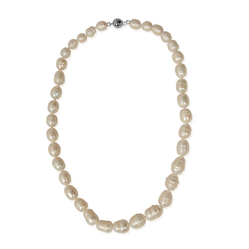Close Out Deal - Cameo And Simulated Pearl Necklace