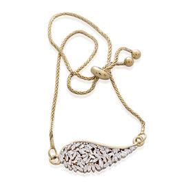 Designer Inspired - Firecracker Diamond (Bgt) Angel Wing Bracelet (Size 6.5 to 8.5) in 14K Gold Overlay Sterling Silver 0.250 Ct.
