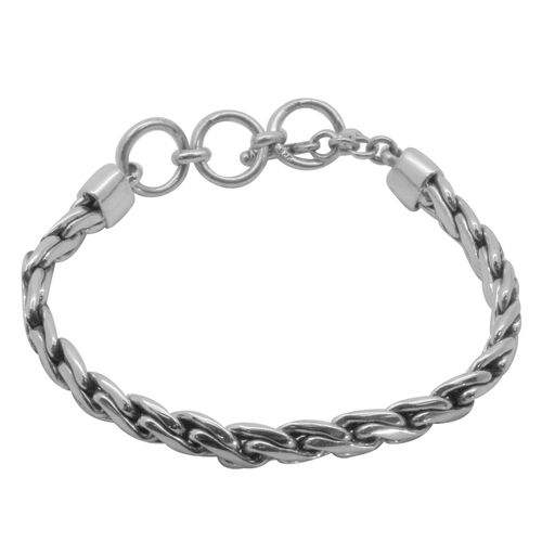 Royal Bali Collection Sterling Silver Bracelet (Size 7 with 1 inch Extender), Silver wt 28.99 Gms.