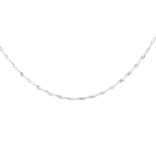 JCK Vegas Collection Sterling Silver Adjustable Diamond Cut Singapore Chain (Size 24), Silver wt 3.30 Gms.