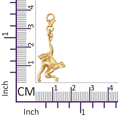 Wise Monkey Ape Charm in Gold Plated 925 Sterling Silver