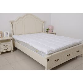 Luxury Edition King Size - 85 GSM Peach Skin Soft and Water Repellent 500 GSM 3D Mattress Topper 150x200 cm