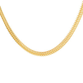 JCK Vegas Collection ILIANA 18K Yellow Gold Heart Curb Necklace (Size 20) 11.37 Grams