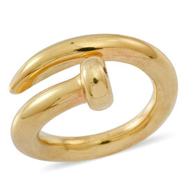 14K Gold Overlay Sterling Silver Nail Ring, Silver wt 5.23 Gms.