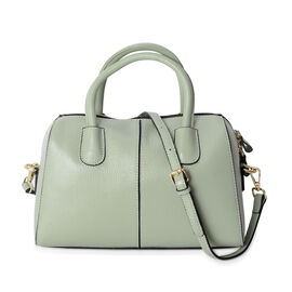 100% Genuine Leather Mint Green Colour Tote Bag with Removable Shoulder Strap (Size 29x20x13 Cm)