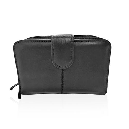 Black Colour Multi Compartment Fashion Purse
