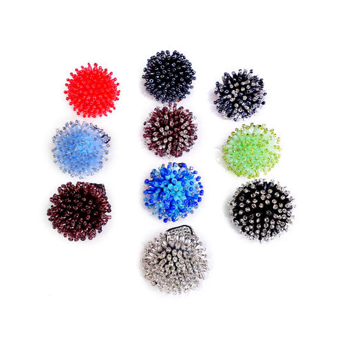 Set of 10 - Royal Bali Collection Multi Colour Seed Bead Ring (Stretchable)