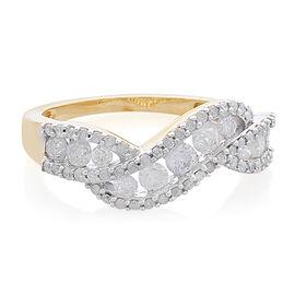 9K Yellow Gold SGL Certified Diamond (Rnd) (I3 G-H) Ring 1.000 Ct.