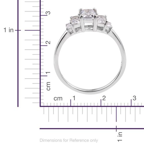 Swarovski Zirconia (1.25 Ct) Platinum Overlay Sterling Silver Ring  1.250  Ct.