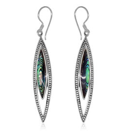 Royal Bali Collection Abalone Shell Hook Earrings in Sterling Silver 8.000 Ct. Silver wt. 4.50 Gms.