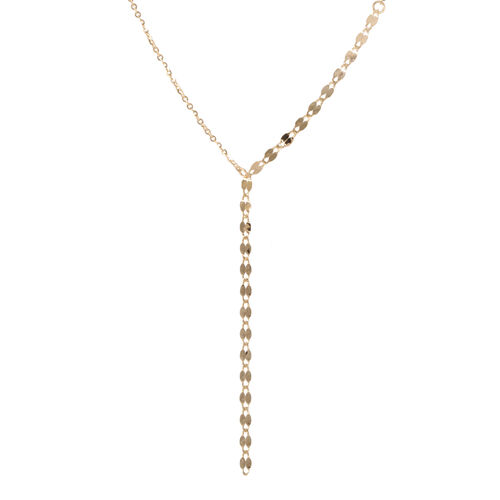 Made In Italy - Designer Inspired 9K Yellow Gold Lariat Necklace