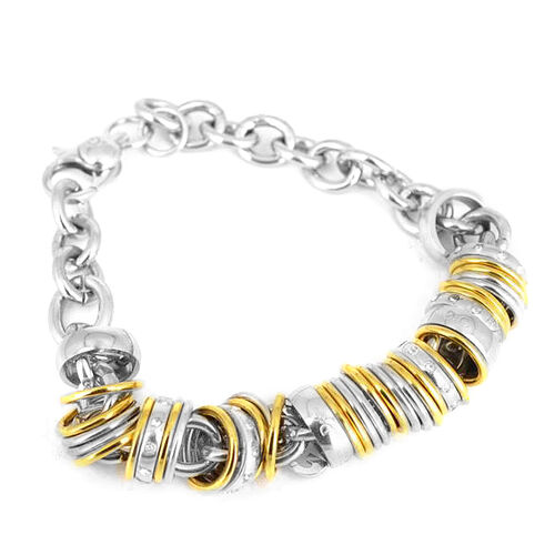 ION Plated YG and Stainless Steel Bracelet (Size 8)
