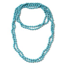 Hongkong Show Deal Blue Howlite Beads Necklace (Size 100) 780.000 Ct.