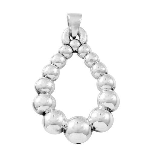 Thai Sterling Silver Teardrop Pendant, Silver wt. 5.6 Gms.