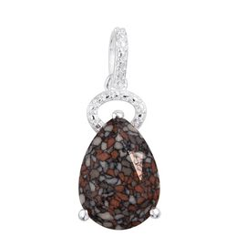 J Francis Crystal from Swarovski - MRB TERRAC Crystal (Pear) Solitaire Pendant in Sterling Silver