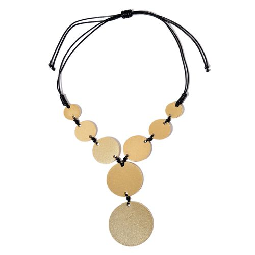 Circle Adjustable Necklace (Size 32) in Yellow Gold Tone