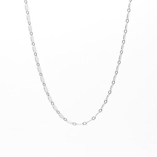 Vicenza Collection Sterling Silver Flat Leaf Chain (Size 20), Silver wt 3.93 GM