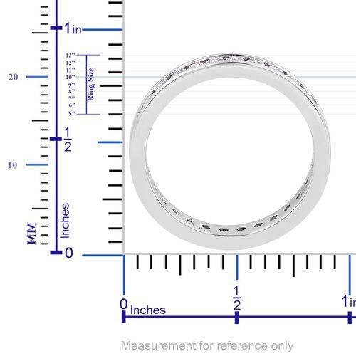 RHAPSODY 950 Platinum IGI Certified Diamond (Rnd) (VS E-F) Full Eternity Band Ring 1.000 Ct.