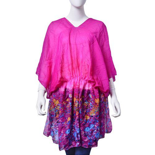 Multi Colour Printed Purple Colour Tunic (Free Size)
