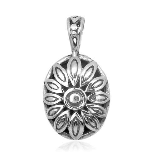 Royal Bali Collection Sterling Silver Floral Pendant, Silver wt 2.70 Gms.