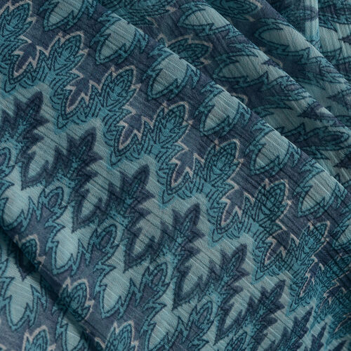 Zig Zag Pattern Blue, Grey and Multi Colour V-Neck Kaftan (Free Size)