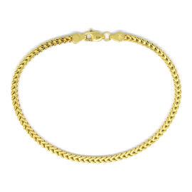 Royal Bali Collection 9K Yellow Gold Franco Bracelet (Size 7.5), Gold wt 3.42 Gms.